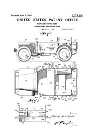 Willys Military Jeep Patent Patent Print Wall Decor Automobile