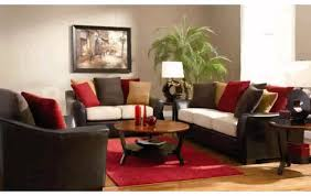 elegant furniture color ideas with brown sofas on the wooden floor