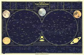 Map Of The Earth 1957 Heavens Map Side 1 Historical Maps