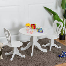 White Kids Table And Chair Set - kids table and chairs ebay