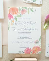 watercolor wedding invitations whimsical poppy and eucalyptus watercolor wedding invitations