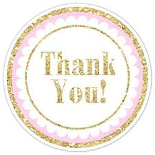 Stickers For Favors by Gold And Pink Thank You Stickers 36 Stickers Gold