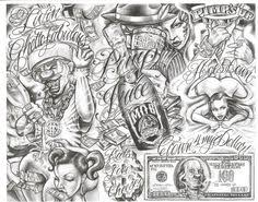 cholo prison art google search lowrider art pinterest
