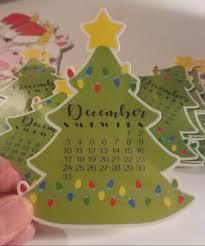 christmas tree calendar card december 2017 calendar die