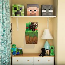 amazon com minecraft wall cling decal set creeper enderman pig amazon com minecraft wall cling decal set creeper enderman pig cow home kitchen