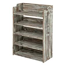 shoe rack entryway amazon com 5 tier rustic torched wood entryway shoe rack storage