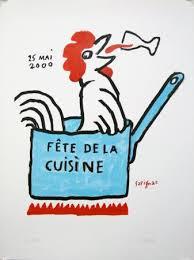 cuisine de fete affiche ancienne originale fête de la cuisine signée numérotée 3
