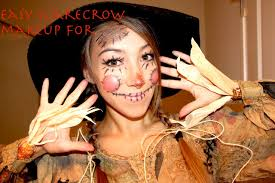 halloween makeup tutorial scarecrow youtube