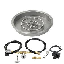 Natural Gas Fire Pit Kit Spark Ignition Fire Pit Kits Firepitsdirect Com
