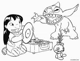 lilo stitch experiments coloring pages coloring pages