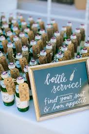 Place Cards Wedding Mini Pellegrino Bottle Wedding Place Cards Place Card Ideas