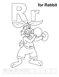 rabbit coloring handwriting practice download
