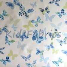Blue Butterfly Curtains Butterfly Cornflower Butterfly In Blue Shades