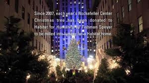 habitat for humanity and the rockefeller center christmas tree