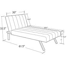 Emily Futon Chaise Lounger Product Reviews Buy Dhp Emily Chaise Lounger Vanilla