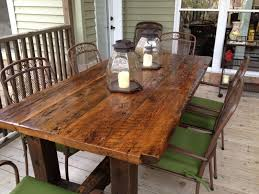 trestle dining table as round dining table with unique reclaimed