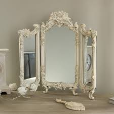 Ornate Vanity Table Ornate Rose Triple Mirror Melody Maison