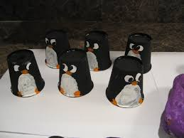 almost unschoolers painted penguins three projects for children