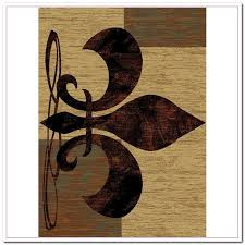 Fleur De Lis Area Rug Awesome Fleur De Lis Kitchen Rugs Curtain Image Gallery Throughout
