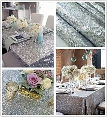 b cool 50 x50 square silver sequin tablecloth