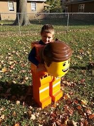 Lego Halloween Costume Dad Wins Halloween Amazing Lego Costume Son