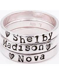 mothers ring with names deal on personalized stacking rings stacking rings names rings