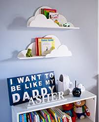 Wall Bookshelves For Nursery by Amazon Com Trend Lab Cloud Wall Shelf White Baby