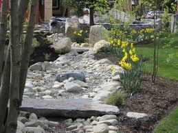 landscape dry streambed dry riverbed garden garden pinterest