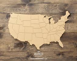 wood usa map etsy
