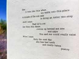 hangover poem the drugstore notebook