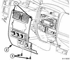 2002 dodge dakota radio how do i remove the console surrounding the radio in my 2005 dodge