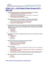 free ccna study guide ccna 1 v5 1 v6 0 chapter 9 exam answers 2017 u2013 100 full