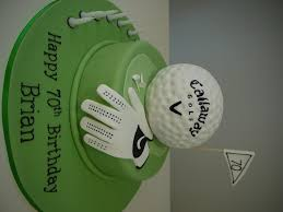 golf cakes birthdays themed change to titleist funny