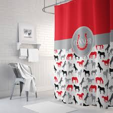 Red Black Shower Curtain Shower Curtains Gathered Nest Designs