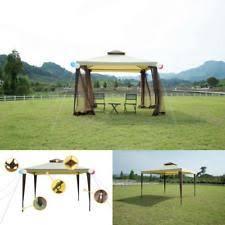 10 X 10 Awning Outdoor Patio Gazebo Canopy Aluminum Frame Metal Hardtop 10x10