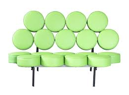 Nelson Sofa Fine Mod Imports Nelson Style Marshmallow Circle Sofa In Green Leather
