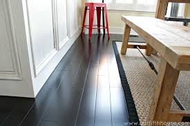 How To Remove Adhesive From Laminate Flooring How To Clean Dark Wood Floors Our Fifth House