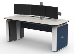 Control Room Desk Sit Stand Consoles Pro Gaming Desk Emax Control Room Workstations