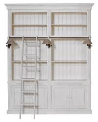 flamant library balmore 2 section milano antique white us bookcase