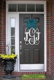 Door Monogram Decoration Front Door Monogram I62 For Your Spectacular Home Decoration Idea