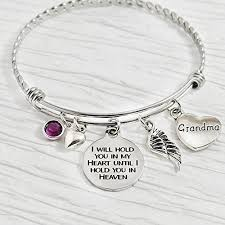 woman charm bracelet images Grandma memorial gifts memory jewelry i will hold jpg