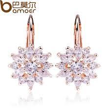 flower stud earrings chagne gold flower stud earrings atypical store