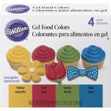 wilton primary gel food colors set 0 3 fl oz bottles blue green