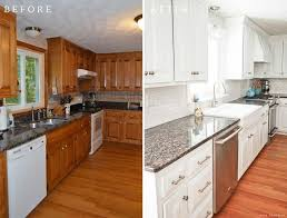 pictures of painted kitchen cabinets before and after white painted kitchen cabinets reveal