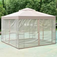 Gazebo With Awning Goplus Op3278 Outdoor 10 U0027x10 U0027 Gazebo Canopy Shelter Awning Tent