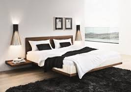 Floating Bed Platform by Riletto Solid Wood Platform Floating Bed Home Decorating Trends