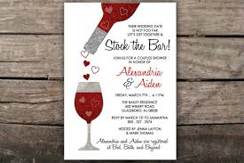 stock the bar invitations stock the bar invitation couples shower invitation engagement