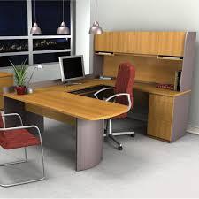 Office Table U Shape Design Bestar Executive U Shape Computer Desk Capuccino Cherry U0026 Slate