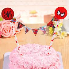 Aliexpress Com Buy Straw String Banner Happy Birthday Spiderman