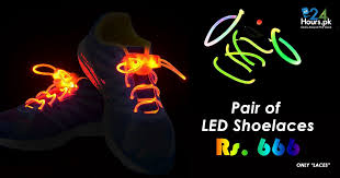 led shoelaces 1 pair of led shoelaces no shoes price in pakistan 24hours pk